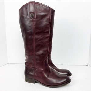 FRYE Melissa Button Tall Riding Boots Size 6